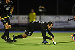 Nic Woods shoots during the International Hockey match between the Blacksticks Men and Japan, TET Multisport Centre, Stratford, New Zealand. Thursday 10 October 2019. Photo: Simon Watts/www.bwmedia.co.nz/HockeyNZ