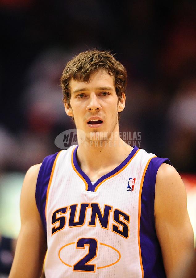 Dec. 8, 2010; Phoenix, AZ, USA; Phoenix Suns guard (2) Goran Dragic against the Memphis Grizzlies at the US Airways Center. Mandatory Credit: Mark J. Rebilas-