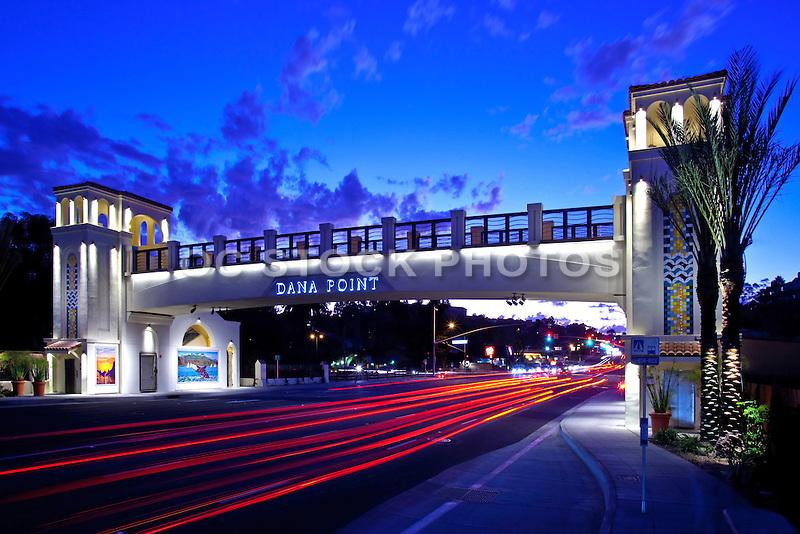 Dana Point Pedestrian Bridge At Dusk
