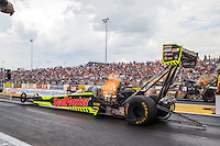 Sep 25, 2016; Madison, IL, USA; NHRA top fuel driver J.R. Todd during the Midwest Nationals at Gateway Motorsports Park. Mandatory Credit: Mark J. Rebilas-USA TODAY Sports