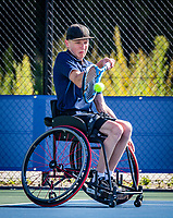 Amstelveen, Netherlands, 19 Augustus, 2020, National Tennis Center, NTC, NKR, National Junior Wheelchair Tennis Championships, Robin Groenewoud (NED)<br /> Photo: Henk Koster/tennisimages.com