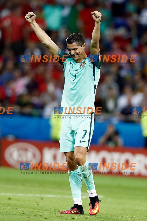 Esultanza fine gara Cristiano Ronaldo (portugal) celebration<br /> Lyon 06-07-2016 Stade de Lyon Football Euro2016 Portugal - Wales / Portogallo - Galles Semi-finals / Semifinali <br /> Foto Matteo Ciambelli / Insidefoto