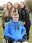 Aiofe, Conor and Caitlin McAuley and Leah Kenny at the Max Mason memorial match at Seafields. Photo:Colin Bell/pressphotos.ie
