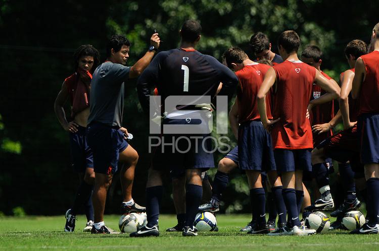 U-17 Practice. 2009 US Soccer Development Academy Summer Showcase at Bryan Park Soccer Complex in Browns Summit, North Carolina, on June 26, 2008.