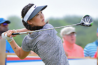 Michelle Wie (USA) watches her tee shot on 9 during round 2 of  the Volunteers of America Texas Shootout Presented by JTBC, at the Las Colinas Country Club in Irving, Texas, USA. 4/28/2017.<br /> Picture: Golffile | Ken Murray<br /> <br /> <br /> All photo usage must carry mandatory copyright credit (&copy; Golffile | Ken Murray)