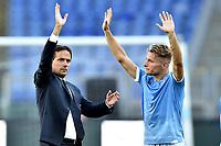 Simone Inzaghi coach of SS Lazio , Ciro Immobile of SS Lazio <br /> Roma 29-9-2019 Stadio Olimpico <br /> Football Serie A 2019/2020 <br /> SS Lazio - Genoa CFC <br /> Foto Andrea Staccioli / Insidefoto