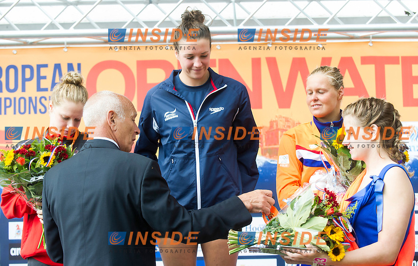 Podium<br /> Hoorn, Netherlands <br /> LEN 2016 European Open Water Swimming Championships <br /> Open Water Swimming<br /> Women's 5km<br /> Day 02 12-07-2016<br /> Photo Giorgio Perottino/Deepbluemedia/Insidefoto