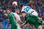 Real Madrid Karim Benzema and Marco Asensio and Leganes Roberto Roman and /unai Bustinza Tito during King's Cup match between Real Madrid and Leganes at Santiago Bernabeu Stadium in Madrid, Spain. January 24, 2018. (ALTERPHOTOS/Borja B.Hojas)