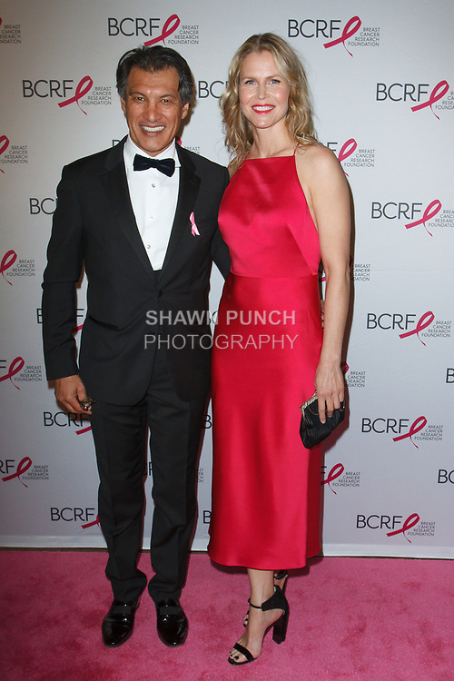 "Frederic Fekkai and Shirin von Wulffen attend The Breast Cancer Research Foundation ""Super Nova"" Hot Pink Party on May 12, 2017 at the Park Avenue Armory in New York City."