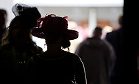 LOUISVILLE, KY - MAY 03: Women dress in their Derby finest during Thurby at Churchill Downs on May 3, 2018 in Louisville, Kentucky. (Photo by Scott Serio/Eclipse Sportswire/Getty Images)