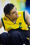 Nazim Erdem, a 0.5 pointer blocks his  opponent during the Australia vs Canada match of the Wheelchair Rugby at the USTB Gymnasium..Paralympic Games, Beijing, China 15th September 2008