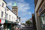 Tower of the Market Hall building, Abergavenny, Monmouthshire, South Wales, UK
