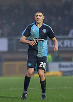 Luke O'Nien of Wycombe Wanderers during the Sky Bet League 2 match between Wycombe Wanderers and Morecambe at Adams Park, High Wycombe, England on 2 January 2016. Photo by Andy Rowland / PRiME Media Images