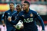 Nederland, Alkmaar, 25 november  2012.Eredivisie.Seizoen 2012-2013.AZ-Feyenoord.Tonny Vilhena van Feyenoord juicht na het scoren van de 0-1