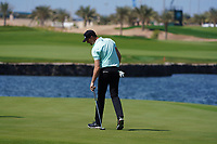Sebastian Heisele (GER) on the 18th during Round 4 of the Saudi International at the Royal Greens Golf and Country Club, King Abdullah Economic City, Saudi Arabia. 02/02/2020<br /> Picture: Golffile | Thos Caffrey<br /> <br /> <br /> All photo usage must carry mandatory copyright credit (© Golffile | Thos Caffrey)