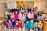 After 36 years teaching and 25 of those in Aghatubrid NS Maire Ní Loinsigh retired from the profession on Friday last pictured here back centre with Fr Larry Kelly, staff and her 1st & 2nd class Pupils.