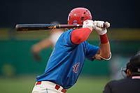 Clearwater Threshers Alec Bohm (40) at bat during a Florida State League game against the Lakeland Flying Tigers on May 14, 2019 at Spectrum Field in Clearwater, Florida.  Clearwater defeated Lakeland 6-3.  (Mike Janes/Four Seam Images)
