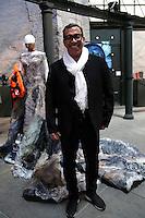 Guillermo Mariotto davanti al suo vestito<br /> Roma 03-04-2016 Terme di Diocleziano. Mostra 'In Acqua: H2O molecole di creativita'. Decine di stilisti hanno creato, per l'occasione, abiti, accessori e gioielli che richiamano l'acqua.<br /> Diocleziano Thermae. Exhibition 'In water: H2O molecules of creativity'.Tens of famous stylists created dresses, accessories and jewels that recall water.<br /> Photo Samantha Zucchi Insidefoto