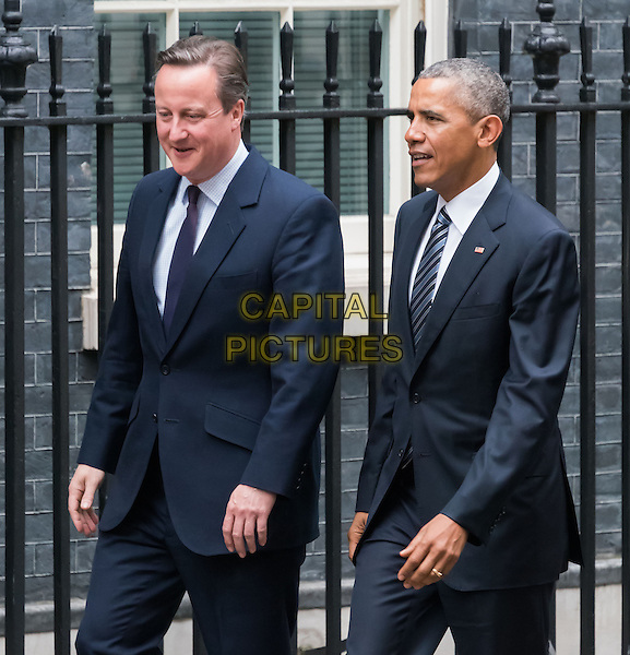 LONDON, ENGLAND - APRIL 22: President Barack Obama at 10 Downing Street, London for a photocall with Prime Minister David Cameron on April 22nd, 2016 in London, England.<br /> CAP/JOR<br /> &copy;JOR/Capital Pictures
