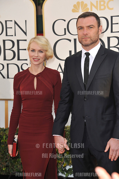 Naomi Watts & Liev Schreiber at the 70th Golden Globe Awards at the Beverly Hilton Hotel..January 13, 2013  Beverly Hills, CA.Picture: Paul Smith / Featureflash