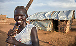 A woman in the Doro Refugee Camp in Maban County, South Sudan. Doro is one of four camps in Maban which together shelter more than 130,000 refugees from the Blue Nile region of Sudan. Jesuit Refugee Service, with support from Misean Cara, provides educational and psychosocial services to both refugees and the host community.