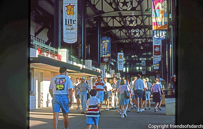 Ballparks: Arlington, TX. The Ballpark. 1994 State-of-the-Art Ballpark Design.