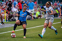 Kansas City, MO - Saturday July 22, 2017: Desiree Scott, Lynn Williams during a regular season National Women's Soccer League (NWSL) match between FC Kansas City and the North Carolina Courage at Children's Mercy Victory Field.