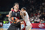 9th February 2018, Aleksandar Nikolic Hall, Belgrade, Serbia; Euroleague Basketball, Crvenz Zvezda mts Belgrade versus AX Armani Exchange Olimpia Milan; Forward Vladimir Micov of AX Armani Exchange Olimpia Milan in action under the basket