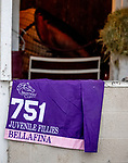 November 1, 2018: Saddlecloths on the backside during morning works at Churchill Downs on November 1, 2018 in Louisville, Kentucky. Carolyn Simancik/Eclipse Sportswire/CSM