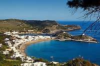 The picturesque village Kapsali with two bays is near the capital Chora of Kythera, Greece
