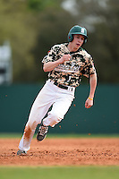 Slippery Rock Davis Smith (1) during a game against the Kentucky Wesleyan Panthers on March 9, 2015 at Jack Russell Stadium in Clearwater, Florida.  Kentucky Wesleyan defeated Slippery Rock 5-4.  (Mike Janes/Four Seam Images)