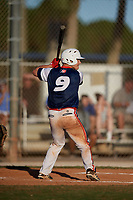 Blake Jackson during the WWBA World Championship at the Roger Dean Complex on October 20, 2018 in Jupiter, Florida.  Blake Jackson is an outfielder from Coppell, Texas who attends Coppell High School and is committed to Texas Tech.  (Mike Janes/Four Seam Images)