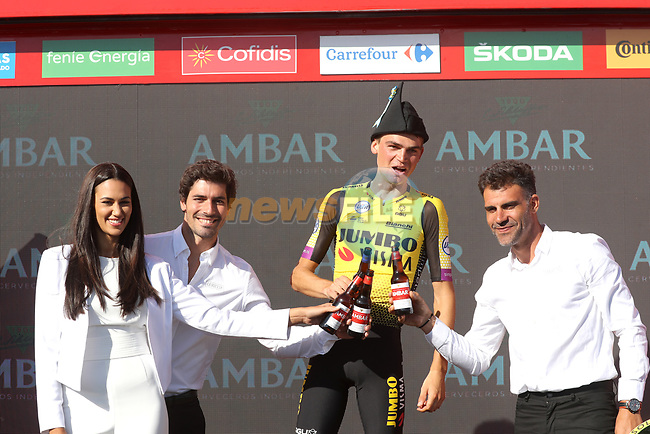 Sepp Kuss (USA) Team Jumbo-Visma wins Stage 15 of La Vuelta 2019  running 154.4km from Tineo to Santuario del Acebo, Spain. 8th September 2019.<br /> Picture: Luis Angel Gomez/Photogomezsport | Cyclefile<br /> <br /> All photos usage must carry mandatory copyright credit (© Cyclefile | Luis Angel Gomez/Photogomezsport)