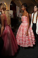 JOHN GALLIANO by Bill Gaytten and Stephen Jones (millinery)<br /> backstageat Spring/Summer 2018 Ready-to-Wear Fashion Show at Paris Fashion Week in Paris, France in September 2017.<br /> CAP/GOL<br /> &copy;GOL/Capital Pictures