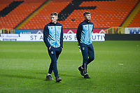 27th December 2019; Dens Park, Dundee, Scotland; Scottish Championship Football, Dundee Football Club versus Dundee United; Josh Meekings and Jordan McGhee of Dundee inspect the pitch before the match - Editorial Use