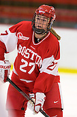 Tara Watchorn (BU - 27) - The Northeastern University Huskies defeated the Boston University Terriers in a shootout after being tied at 4 following overtime in their Beanpot semi-final game on Tuesday, February 2, 2010 at the Bright Hockey Center in Cambridge, Massachusetts.