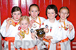 Kerry Shotokan Karate School members Alanna Pigott, Cadhla Pigott, Zoe Dourieu, David Moriarty and Claire Dourieu Killorglin who won medals at the World Karate championships in Jesolo, Venice, Italy last week   Copyright Kerry's Eye 2008