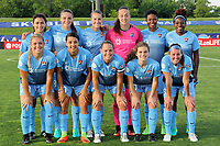 Piscataway, NJ - Saturday May 27, 2017: Sky Blue FC starting eleven before a regular season National Women's Soccer League (NWSL) match between Sky Blue FC and the Orlando Pride at Yurcak Field.  Sky Blue FC defeated the Orlando Pride, 2-1.