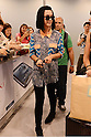 Katy Perry arrives at Narita International Airport