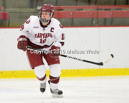 Cori Bassett (Harvard - 18) - The Harvard University Crimson defeated the Northeastern University Huskies 1-0 to win the 2010 Beanpot on Tuesday, February 9, 2010, at the Bright Hockey Center in Cambridge, Massachusetts.