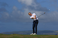 Darren O'Sullivan (Tralee) on the 6th tee during the Munster Final of the AIG Barton Shield at Tralee Golf Club, Tralee, Co Kerry. 12/08/2017<br /> Picture: Golffile | Thos Caffrey<br /> <br /> <br /> All photo usage must carry mandatory copyright credit     (&copy; Golffile | Thos Caffrey)