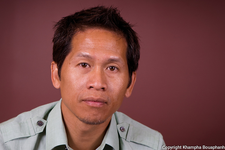 Aloun Khotisene, executive producer for the Lao Aritsts Festival, photographed in Elgin, IL on August 20, 2010.  (photo by Khampha Bouaphanh)