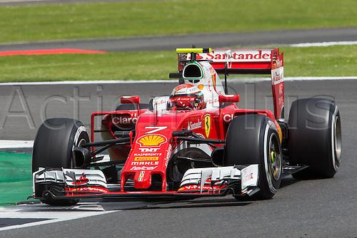 10.07.2016. Silverstone, England. Formula One British Grand Prix, race day.  Scuderia Ferrari driver Kimi Raikkonen.
