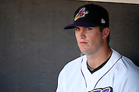 Akron Aeros Drew Pomeranz #58 during a game against the Trenton Thunder at Canal Park on July 26, 2011 in Akron, Ohio.  Trenton defeated Akron 4-3.  (Mike Janes/Four Seam Images)