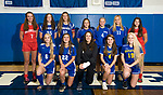 LITCHFIELD, CT-112017JS06- Members of the All-Berkshire League girls soccer team, front row, from left, Amber Marino-Litchfield; Christina Orsini-Litchfield; Gina Weingart-Northwestern; Josie Horosky-Housatonic and Emily Geyselaers-Housatonic. Back row, from left, Emma Propfe-Northwestern; Azria Malloy-Nonnewaug; Mary Bibbey-Nonnewaug; Hannah Anderson-Lewis Mills; Morgan Sokol-Lewis Mills, Chloe Waldron-Lewis Mills and Addie Hester-Northwestern. Missing is Alyssa Wrabel-Lewis Mills. <br /> Jim Shannon Republican-American