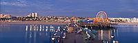 Santa Monica CA Pacific Park Pier Panorama