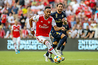 Landover, MD - July 23, 2019: Arsenal Pierre-Emerick Aubameyang (14) dribbles the ball during the match between Arsenal and Real Madrid at FedEx Field in Landover, MD.   (Photo by Elliott Brown/Media Images International)