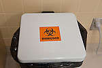 Biohazard sign, container