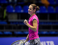 Rotterdam, Netherlands, December 14, 2016, Topsportcentrum, Lotto NK Tennis, Bibiane Schoofs (NED)   celebrates, she is in the final.<br /> Photo: Tennisimages/Henk Koster