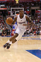 11/28/12 Los Angeles, CA: Los Angeles Clippers point guard Eric Bledsoe #12 during an NBA game between the Los Angeles Clippers and the Minnesota Timberwolves played at Staples Center where the Clippers defeated the Timberwolves 101-95.